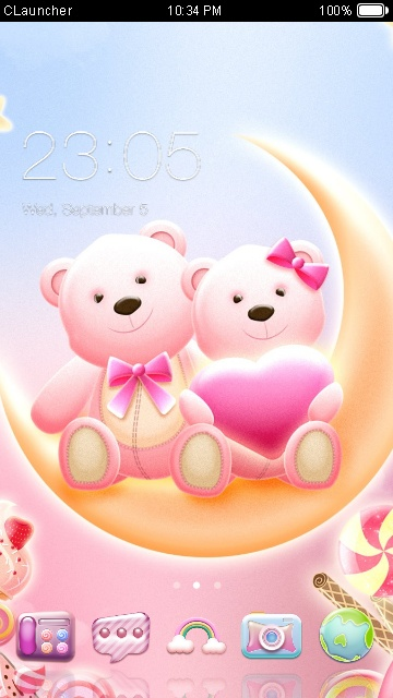 download honey bear theme for your android phone clauncher