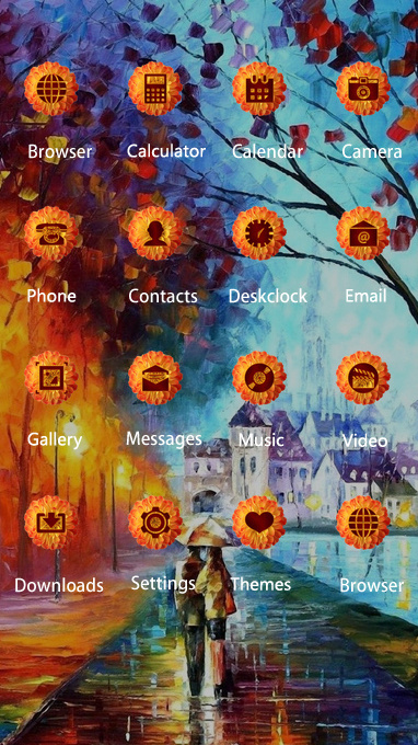 download love theme autumn drawing walking wallpaper theme for your