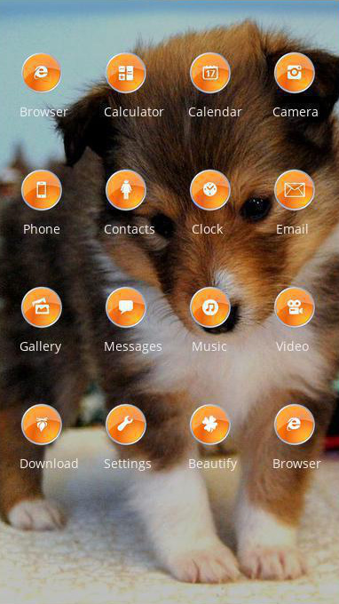 shy puppy theme