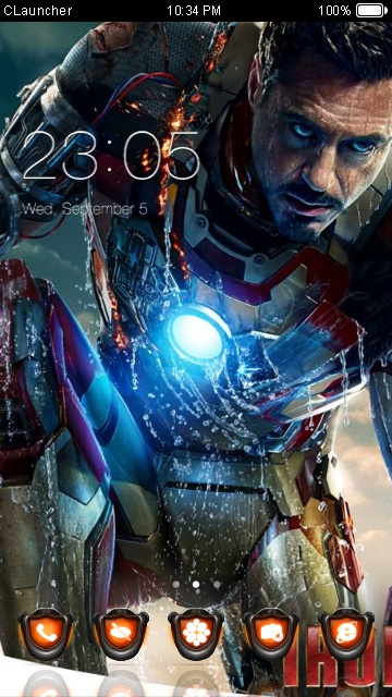 Download iron man 3 emishi theme for your Android phone