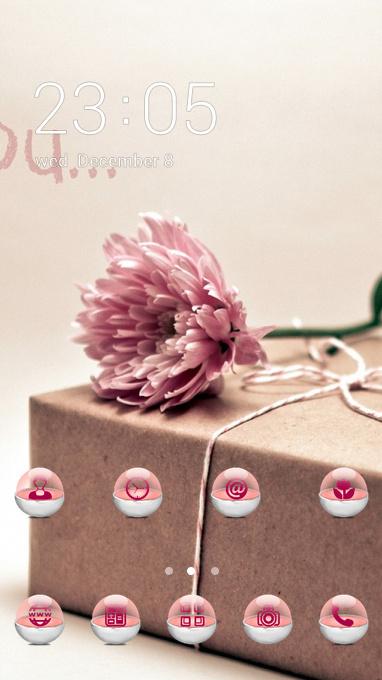 Gift theme gift box flower wallpaper