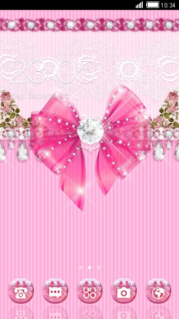 Download Cute Pink Bow Theme For Your Android Phone CLauncher