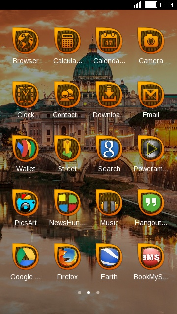 Rome City Theme Sunset castle Live Wallpaper