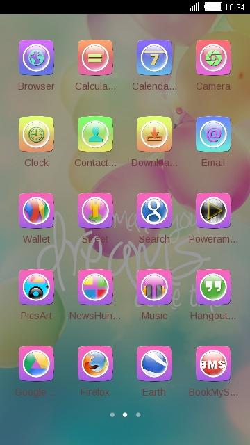 Pink balloon theme for samsung