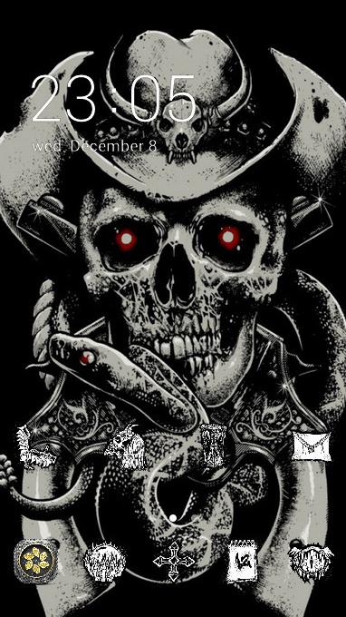 Skull bone theme fear hat guns snake wallpaper