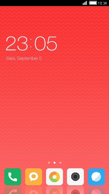 Theme for Xiaomi Mi Note 2 Red Wallpaper HD