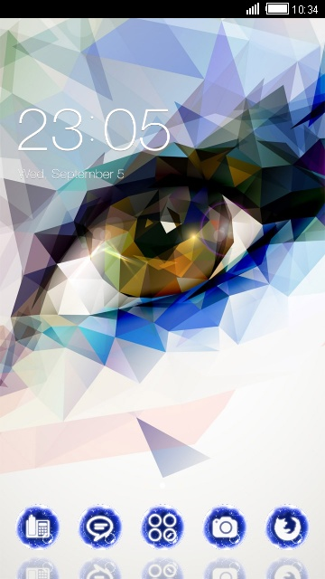 Colourful Theme Abstract Eye Wallpaper