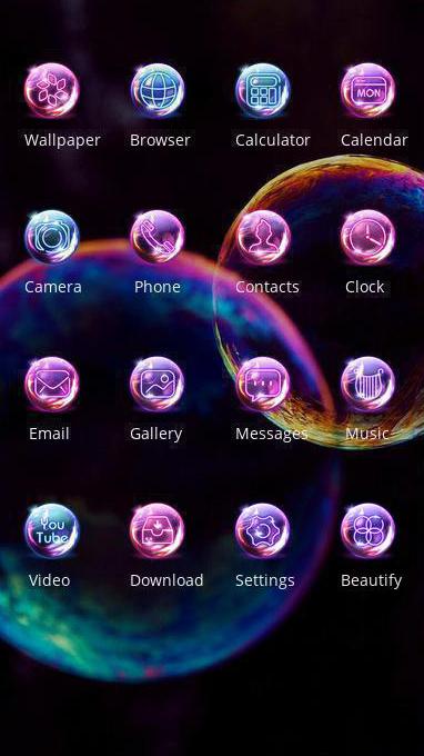 fancy bubble theme