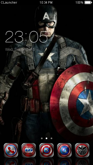download captain america ws theme for your android phone clauncher. Black Bedroom Furniture Sets. Home Design Ideas
