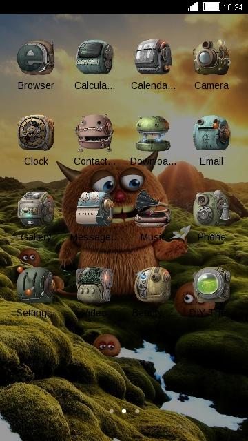 Cute Monster theme: furry alien wallpaper HD