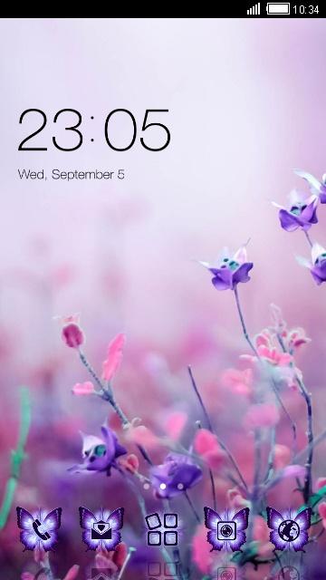 Beautiful Theme: Purple Flower