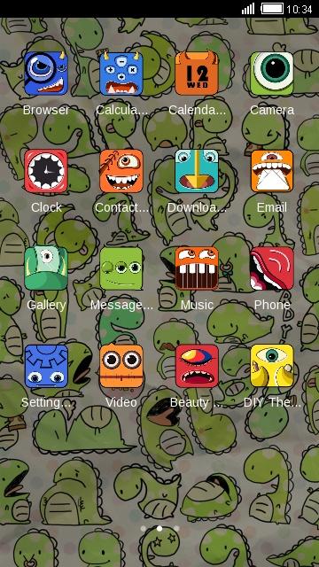 Cartoon Cute Dinosaurs Theme HD Wallpaper