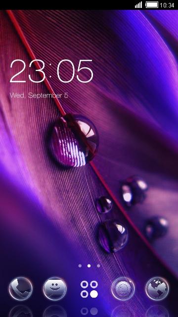 Purple Romantic Theme & Wallpaper Icon Pack