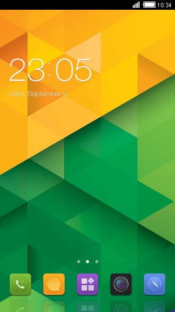 Theme for Gionee M2 Geometric Wallpaper free android theme