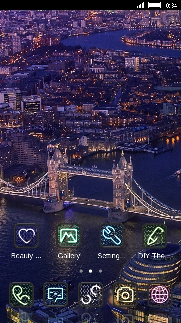 Stunning night view of London