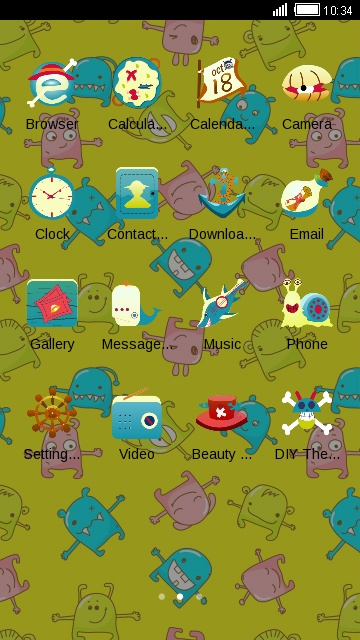 Yellow Cartoon Theme Monster Live Wallpaper