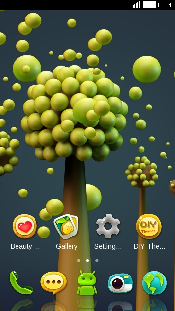 Green Nature HD Theme: Green bubble wallpaper