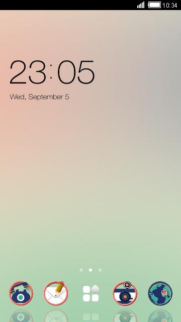 Simple color theme