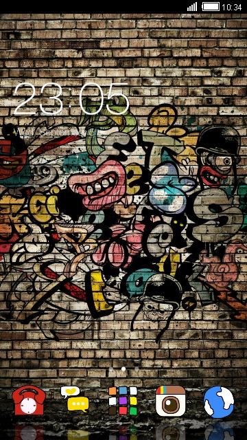 Street Graffiti Zombie Skull