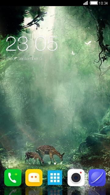 Theme for Videocon V1635 Fantasy Forest Wallpaper