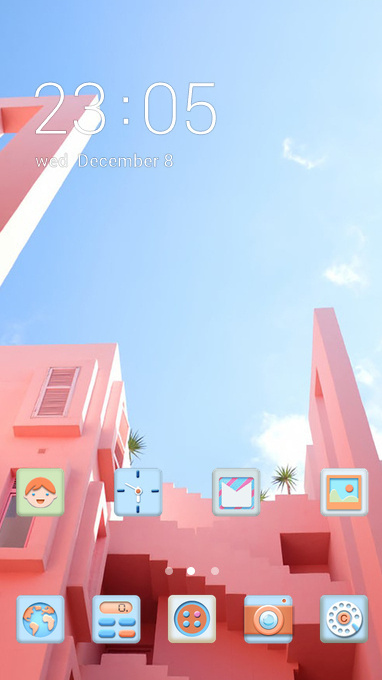 pink house theme