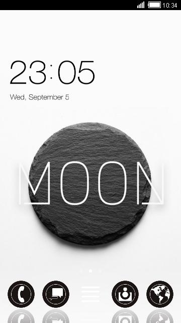 Black & White Moon Stone Theme