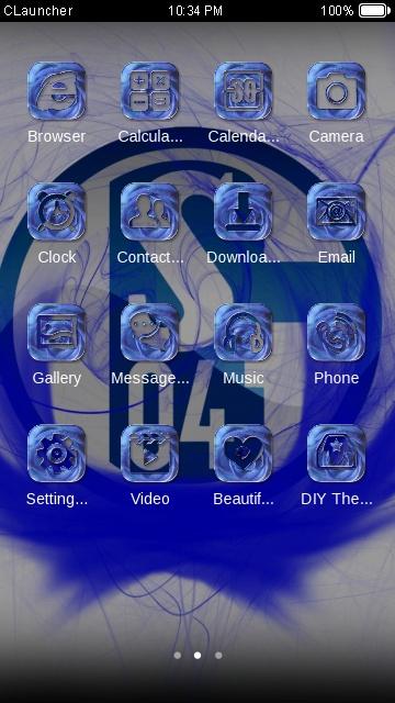 Fc Schalke Free Android Theme U Launcher 3d