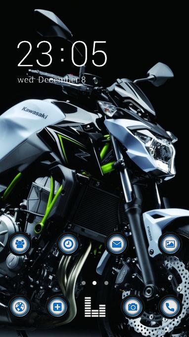 Cool Theme Kawasaki Motorcycle Wallpaper Free Android Theme U Launcher 3d