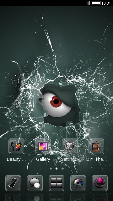 Sharingan with Broken Screen