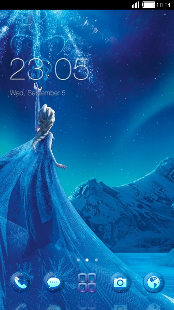 Elsa From Frozen Free Android Theme U Launcher 3d