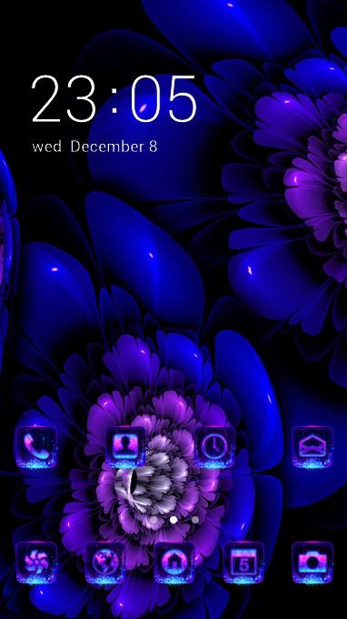 fractal dark blue