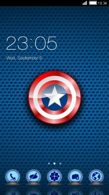 download captain america theme for your android phone clauncher. Black Bedroom Furniture Sets. Home Design Ideas