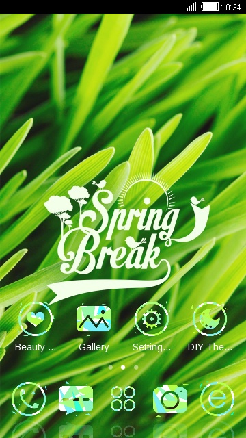 Green Nature Theme Spring Live Wallpaper