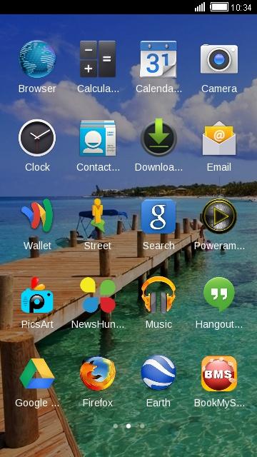 Theme for Intex Aqua 4G Mini HD