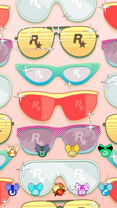 Graffiti art theme rockstar glasses wallpaper