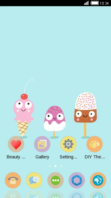 Cute Cartoon Ice Cream