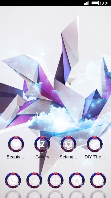 Abstract purple theme origami wallpaper