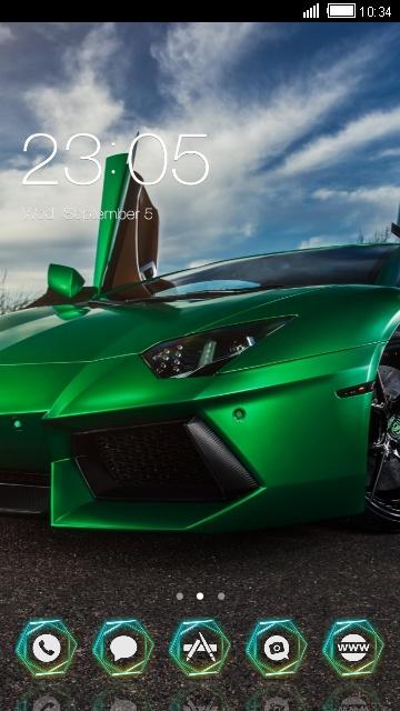Cool Car :Green Lamborghini
