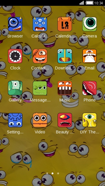 Yellow Cartoon Theme for android free