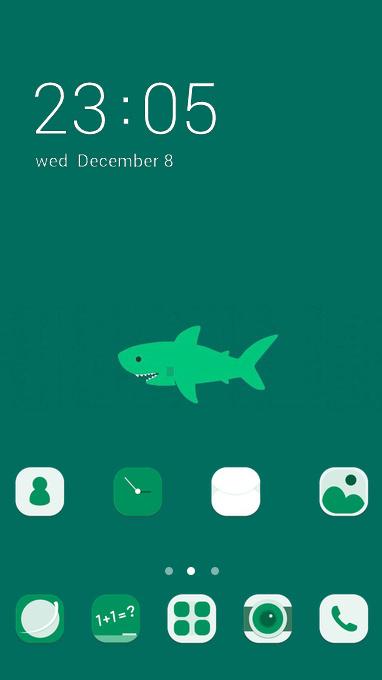 Cute Shark theme