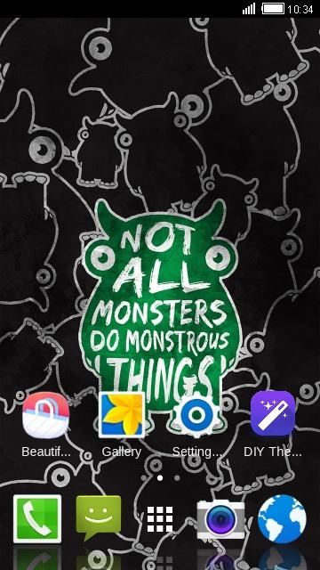 Anime Theme for Panasonic P11: Monster Wallpaper