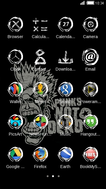Rock Punk Launcher Vintage Art Wallpaper & Theme