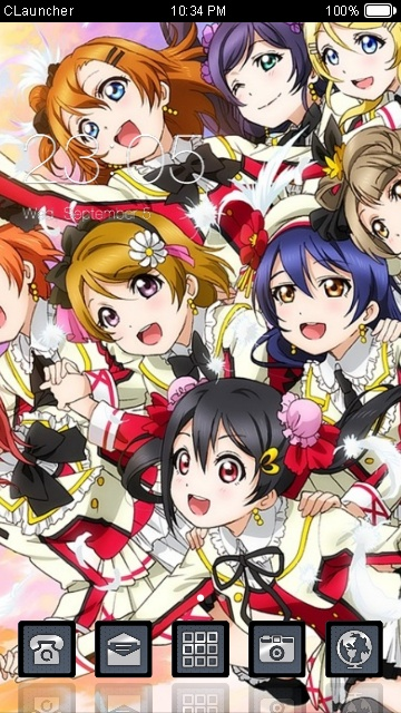 Download Love Live theme for your Android phone — CLauncher