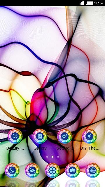 Spider Color Neon Line
