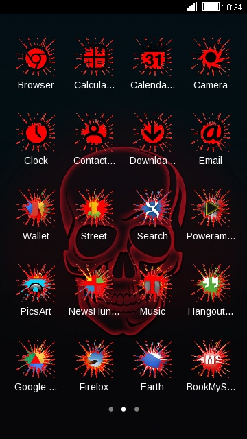 cool neon red skull