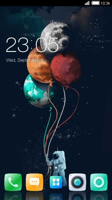 Download Theme for Lenovo Vibe P1m Space Wallpaper theme for