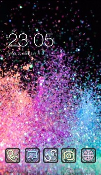 Galaxy Glitter Theme