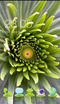 Green Teal Floral Flower