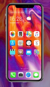 iPhone X Theme:Color Fire