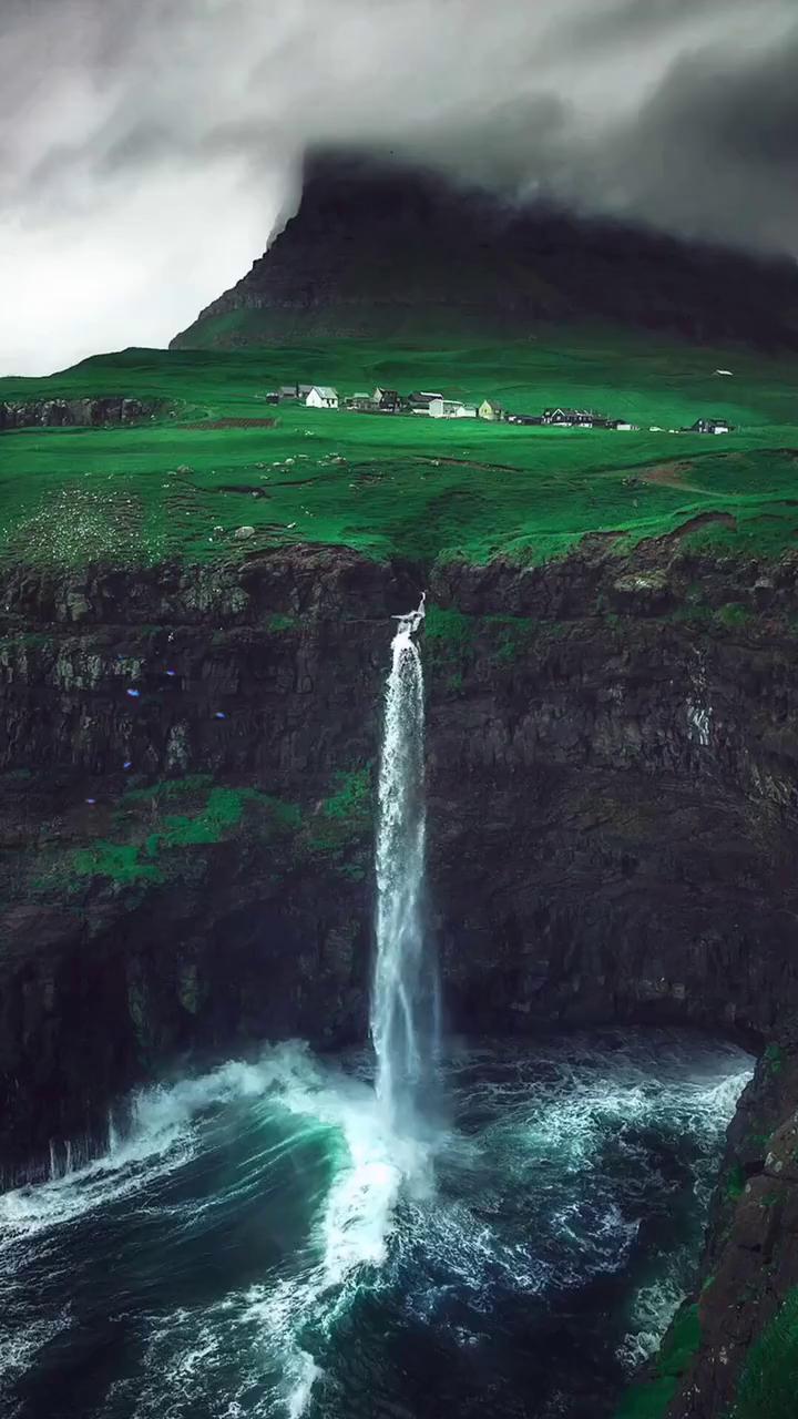 cliff waterfall